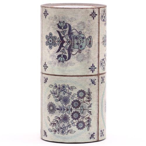 extra wide mt Casa Washi Tape 10cm flower tile deco tape