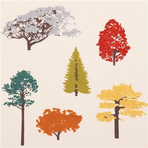 off-white Canopy tree forest poplin organic fabric birch USA