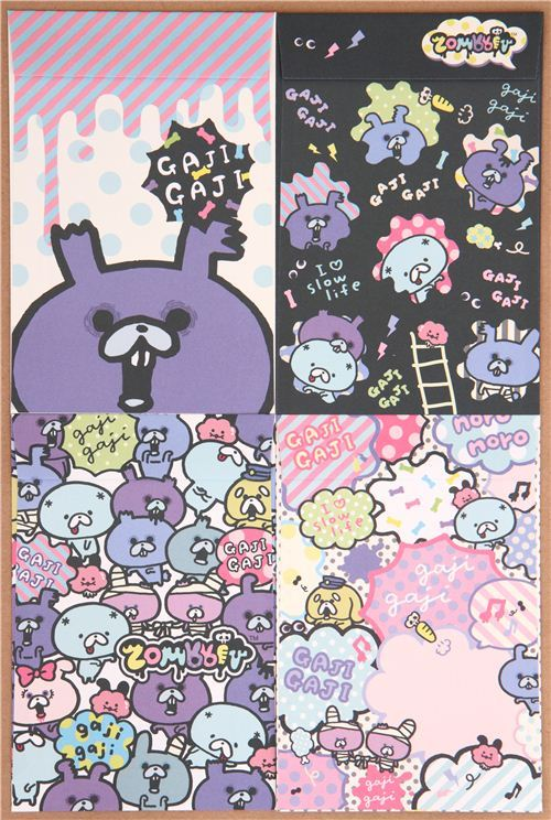 Zombbit zombie rabbits letter paper set from Japan