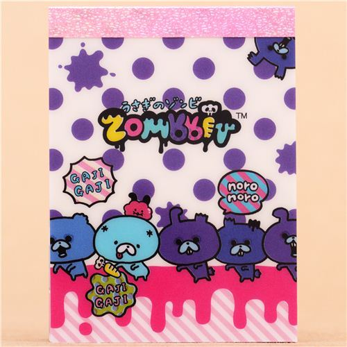 Zombbit zombie rabbits polka dot mini Note Pad San-X