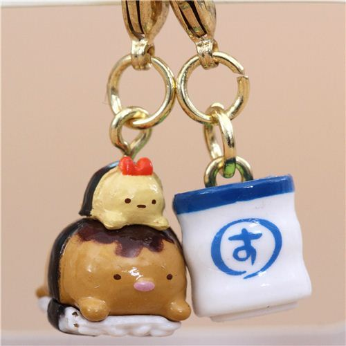 Mini San-X Sumikkogurashi cutlet food charm cellphone strap