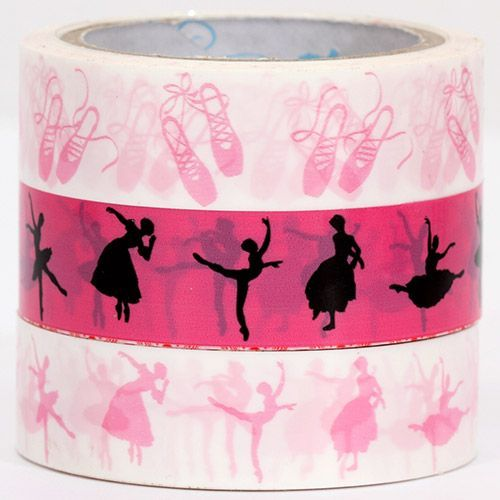 Sticky Tape set with ballet shoes and dancer