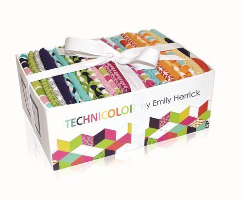 Fat Quarter fabric bundle box Technicolor Michael Miller