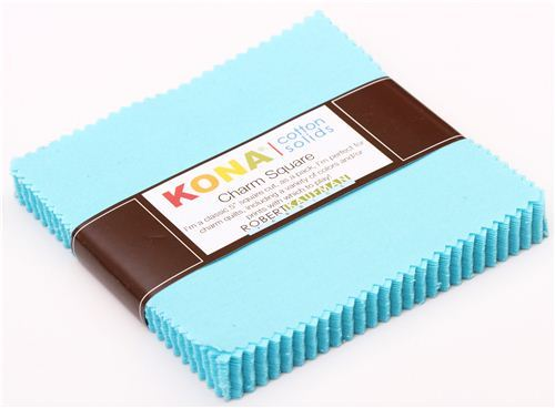 Charm Pack fabric bundle Bahama blue Robert Kaufman USA