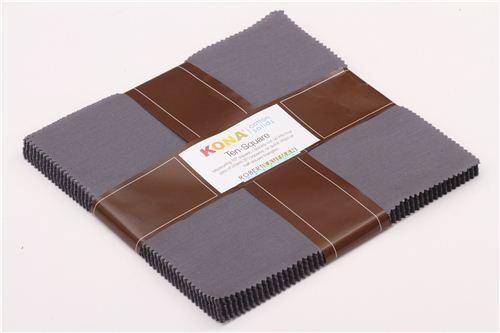fabric bundle Coal grey Ten-Square Robert Kaufman