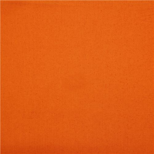 solid orange birch organic fabric from the USA