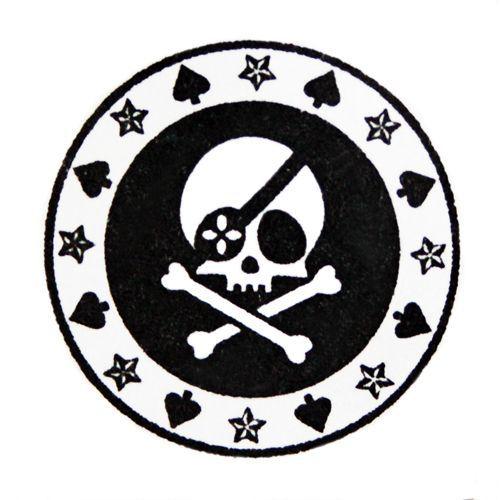 cool skull pirate stamp stars handmade