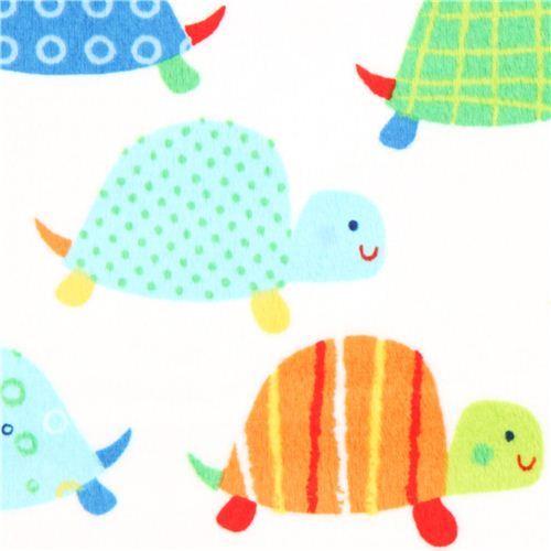 turtle minky fabric fleece plush Timeless Treasures
