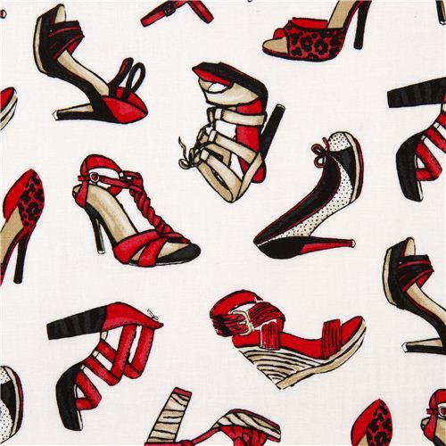 white ladies shoes designer fabric with high heels USA