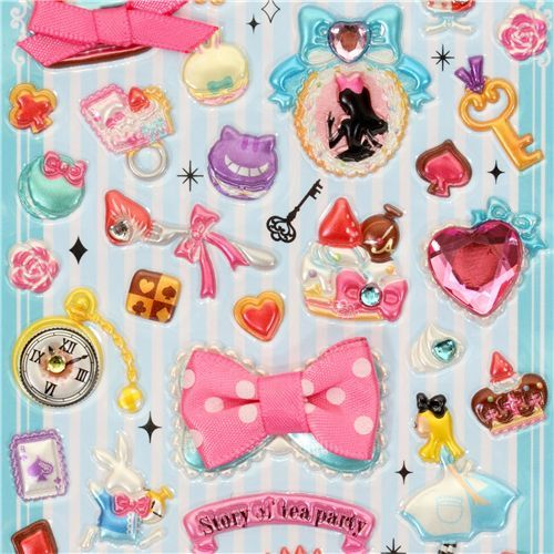 princess sticker Alice in Wonderland with crystals