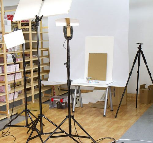 our little photo studio to take good product pictures