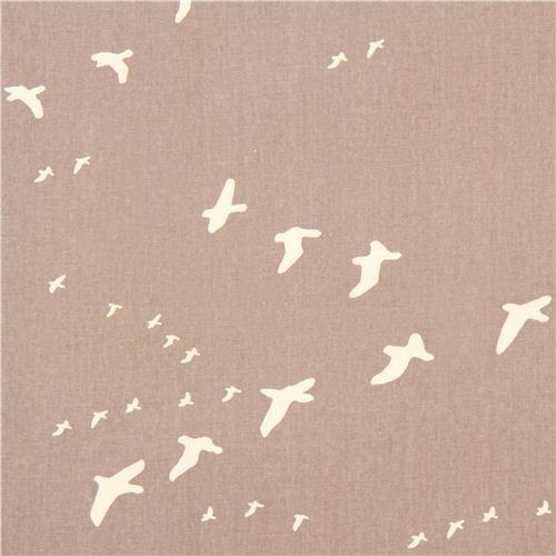 grey bird animal canvas organic fabric birch USA