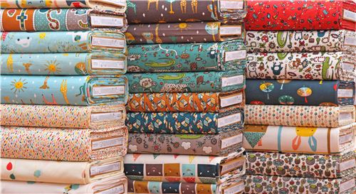 Some of the new organic fabric from the birch collections Happy Town and Picnic Whimsy.
