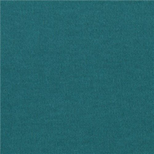 solid teal birch knit organic fabric from the USA