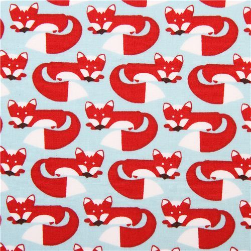 aqua blue monaluna organic fox fabric foxy too