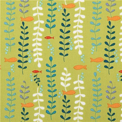 green monaluna fish seaweed plant organic fabric kelp forest