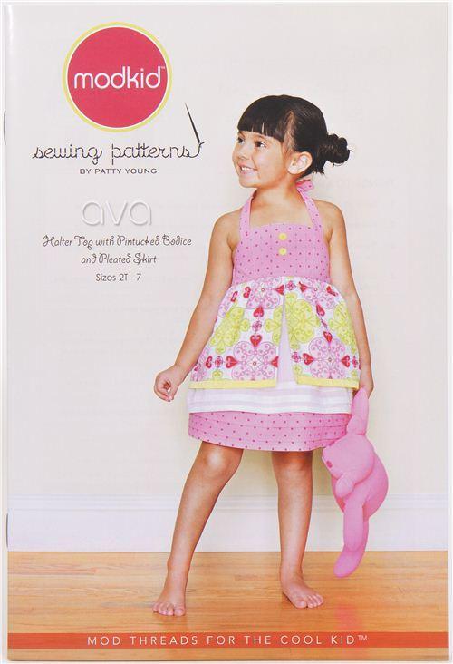 Modkid children summer top and skirt sewing pattern Ava