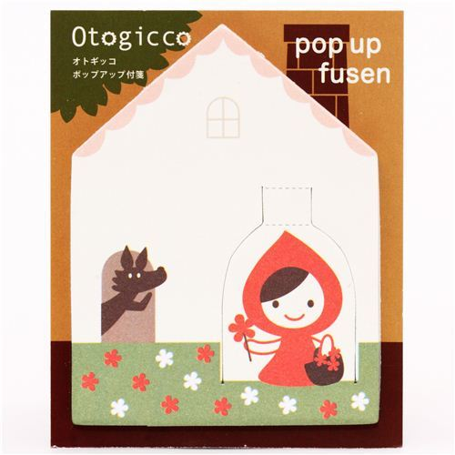 Little Red Riding Hood Post-it bookmark stickers Otogicco