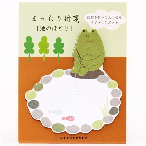 frog at pond Post-it bookmark sticker Japan