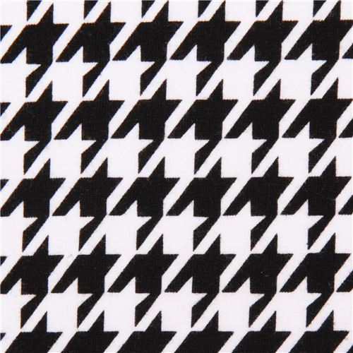 Robert Kaufman houndstooth black-white knit fabric
