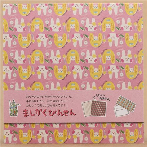 kawaii pink with rabbit and princess Origami Note pad from Japan