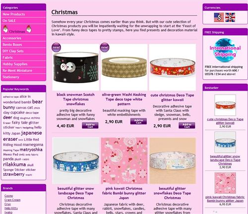 Our Christmas Page is online