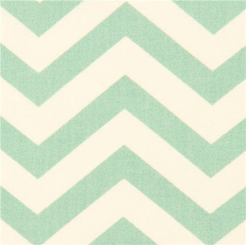 sea green chevron organic fabric by birch from the USA
