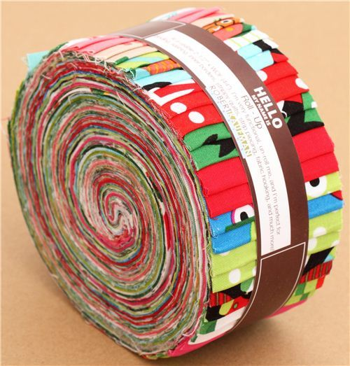 Roll-up Christmas fabric bundle roll elf owl Robert Kaufman