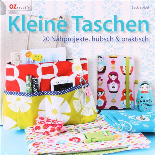 We are featured in this lovely German sewing book about sewing little bags