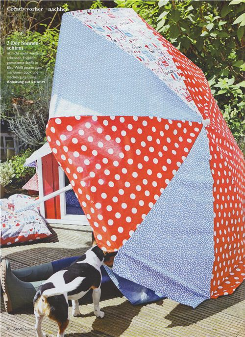 Isn't this parasol amazing? It's also made with our fabrics