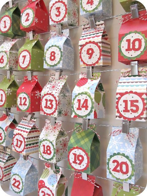 Milk box advent calendar by homemadebyjill.blogspot.com