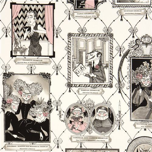 white witch family photo gallery fabric by Alexander Henry