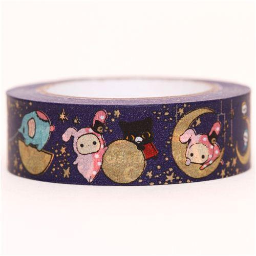 dark blue Sentimental Circus moon Washi Masking Tape
