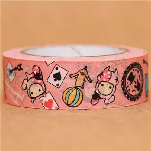 pink Sentimental Circus card game Washi Masking Tape