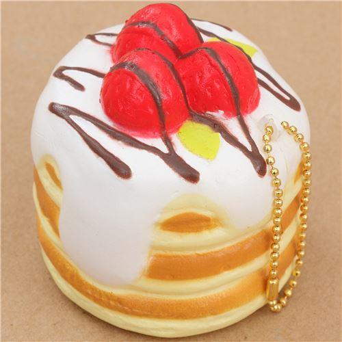 Premium Cafe de N pancake white sauce squishy charm kawaii