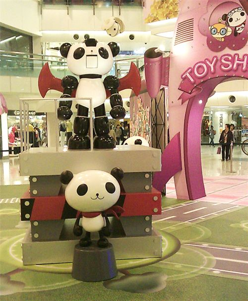 Panda-Z Cafe in Hong Kong shopping mall 2