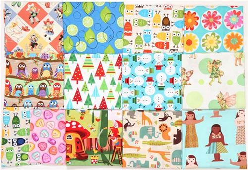 You can win 13 different Fat Quarters, we also included some Christmas fabrics already.