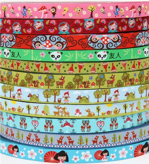 lots of cute woven ribbons
