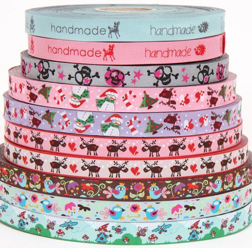 We even have Christmas woven ribbons