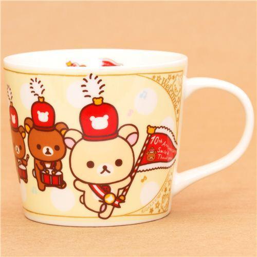 yellow Rilakkuma Wonderland cup bear marching band San-X