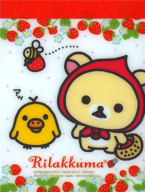 kawaii Rilakkuma mini Memo Pad Korilakkuma strawberry
