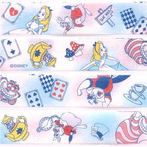 Disney Alice in Wonderland fairy tale Washi Masking Tape