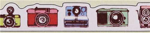 thin die-cut retro camera Masking Tape deco tape from Japan