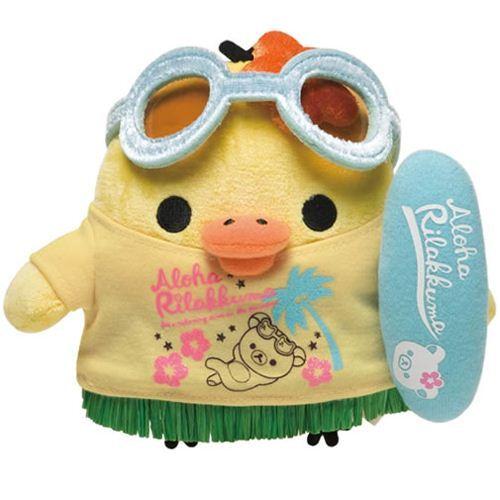 Rilakkuma yellow chick plush toy Aloha Hawaii San-X