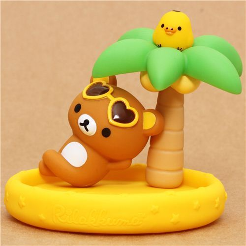 yellow Aloha Rilakkuma bear desk tray San-X palm tree Hawaii