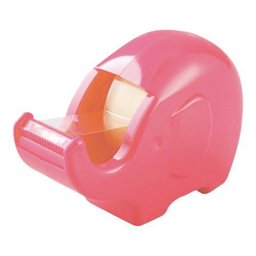 cute pink elephant adhesive tape dispenser cutter