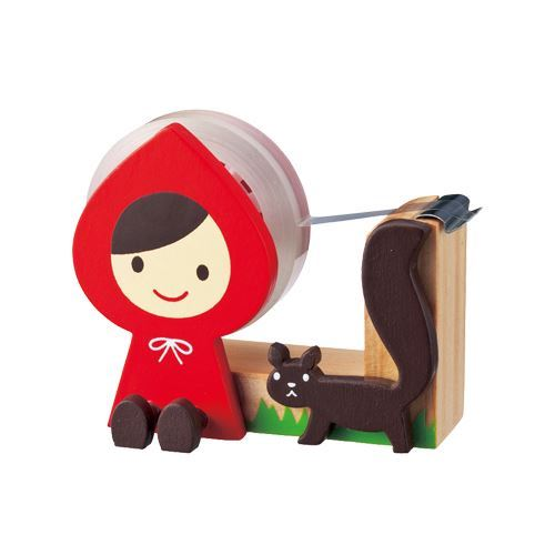 cute wooden Little Red Riding Hood tape dispenser by Decole