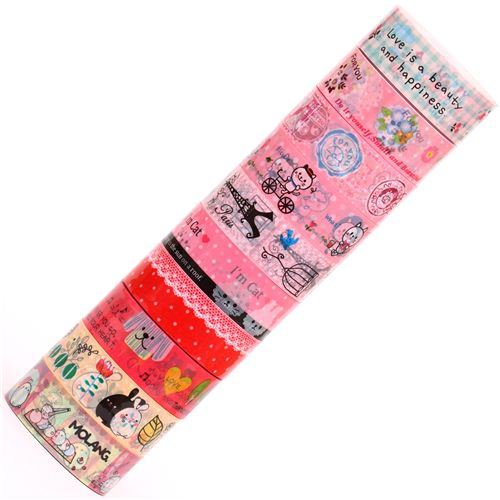 kawaii Deco Tape adhesive tape 10pcs Set 65
