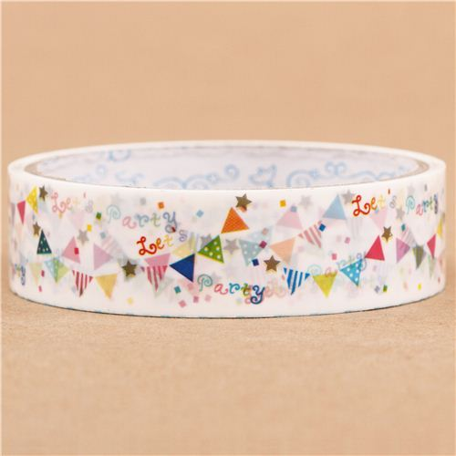 white garland bunting deco tape sticky tape Japan Prime Nakamura