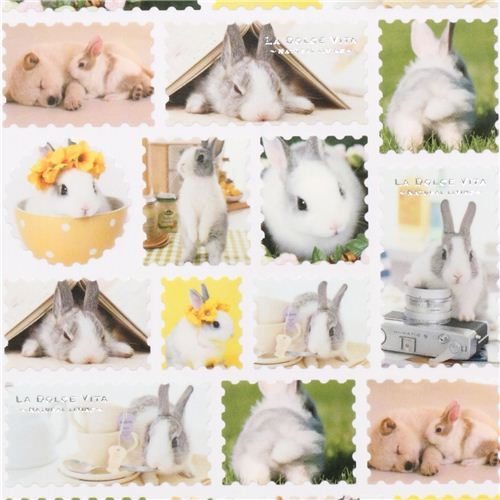 cute rabbit stamps stickers from Japan